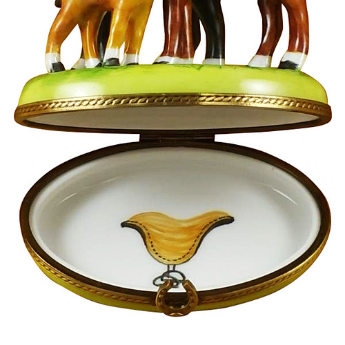 Rochard THREE HORSES Limoges Box RA027-N