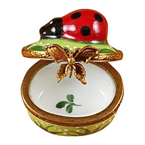 Mini Ladybug On Oval Rochard Limoges Box