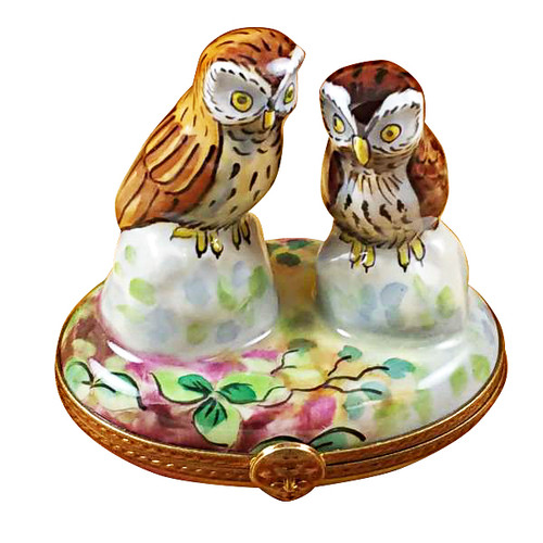 Two Owls Rochard Limoges Box