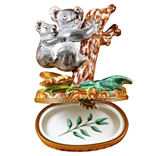 Koala W/Baby Rochard Limoges Box