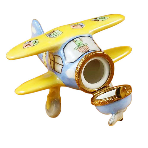 Airplane Baby Decor Rochard Limoges Box