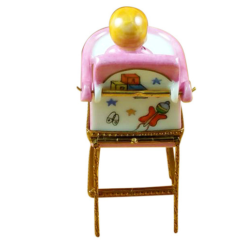 Baby High Chair - Pink Rochard Limoges Box