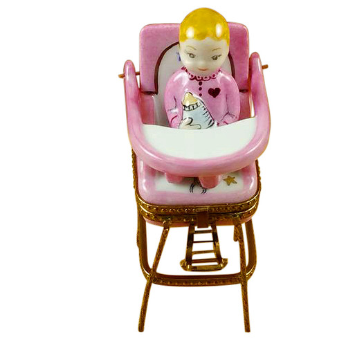 Baby High Chair - Pink Rochard Limoges Box