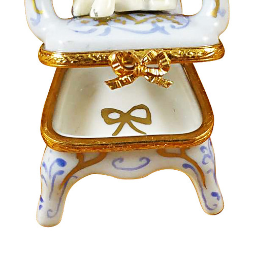 Pug On Armchair Rochard Limoges Box