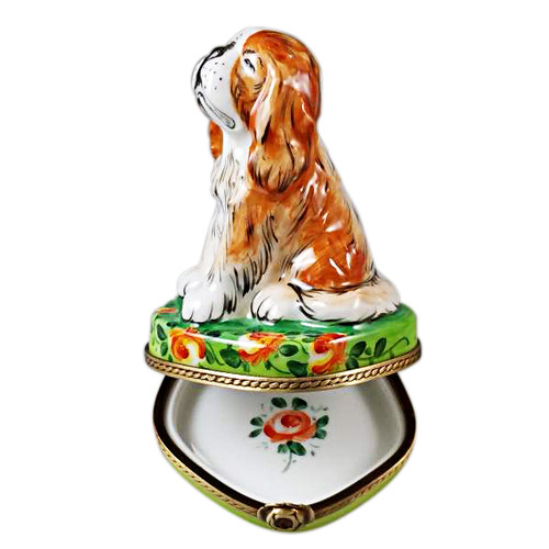 King Charles Spaniel Rochard Limoges Box