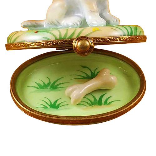 Rochard BLONDE LABRADOR Limoges Box RD065-J