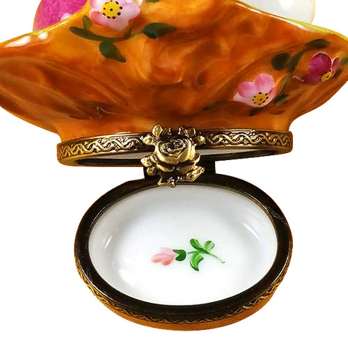 Basket Of Eggs Floral Rochard Limoges Box