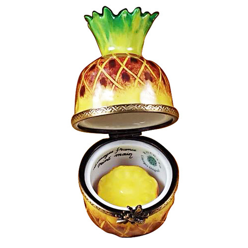 Pineapple With Slice Rochard Limoges Box