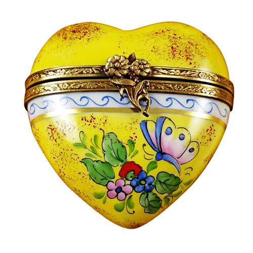 Rochard BUTTERFLY HEART Limoges Box RH225-G