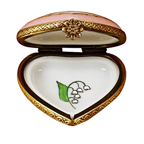 Mini Heart Lily Of The Valley Rochard Limoges Box