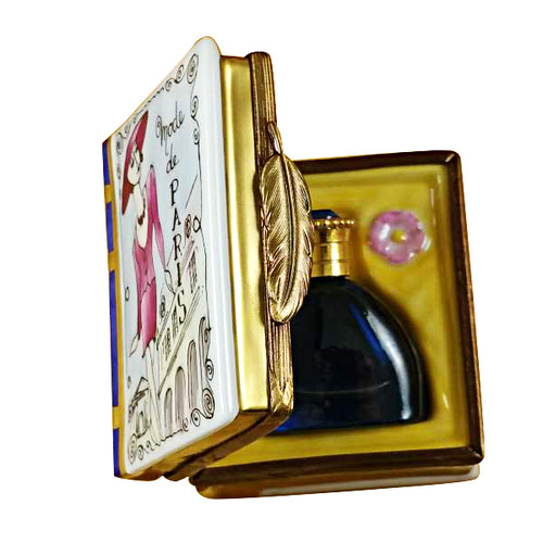 Book Box W/Bottle Rochard Limoges Box