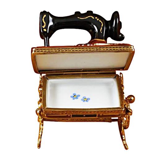 Sewing Machine W/Stand Rochard Limoges Box