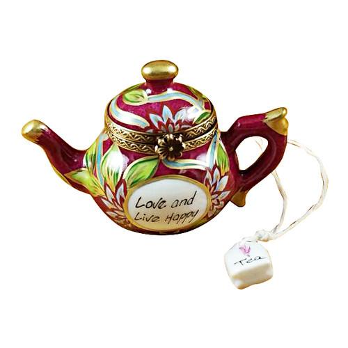 Teapot - Love & Live Happy Rochard Limoges Box