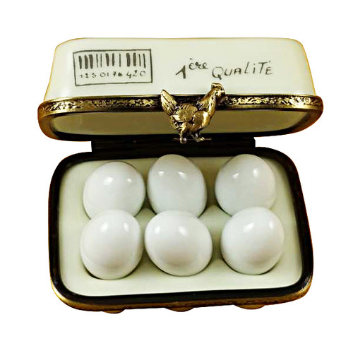 Eggs In Carton Rochard Limoges Box
