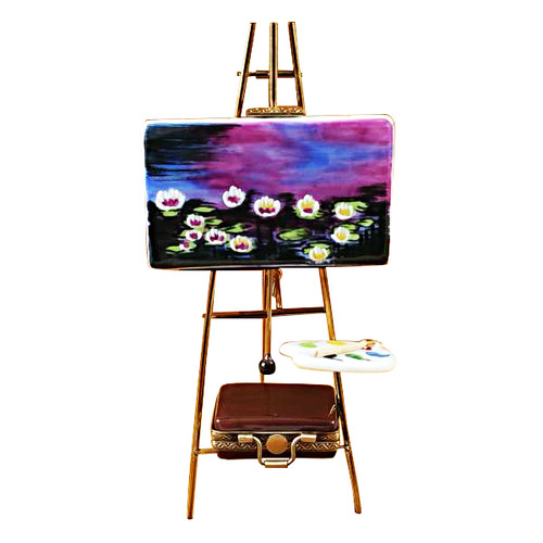 Easel Monet - Water Lilies Rochard Limoges Box