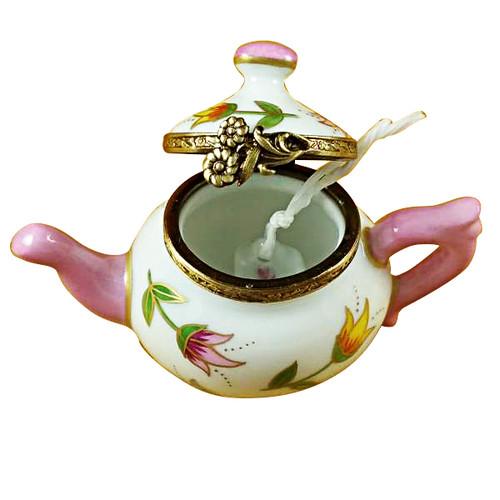 Teapot Tulips Rochard Limoges Box