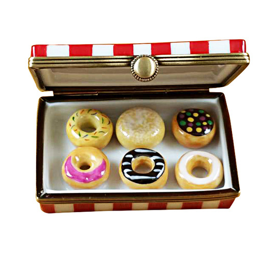 Donut Box W/Six Donuts Limoges Box RK145-J