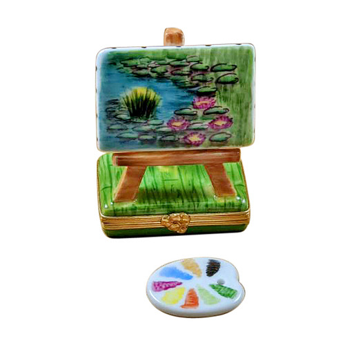 Monet Easel Limoges Box