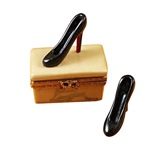 Shoe Box With Stilettos Rochard Limoges Box