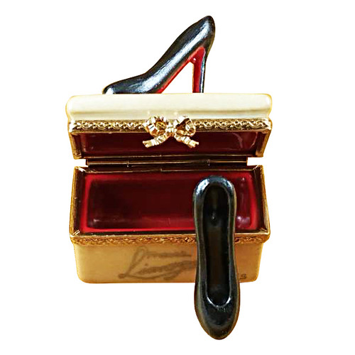 Shoe Box With Stilettos Rochard Limoges Box