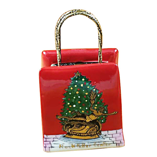 Christmas Shopping Bag Limoges Box RL066-G