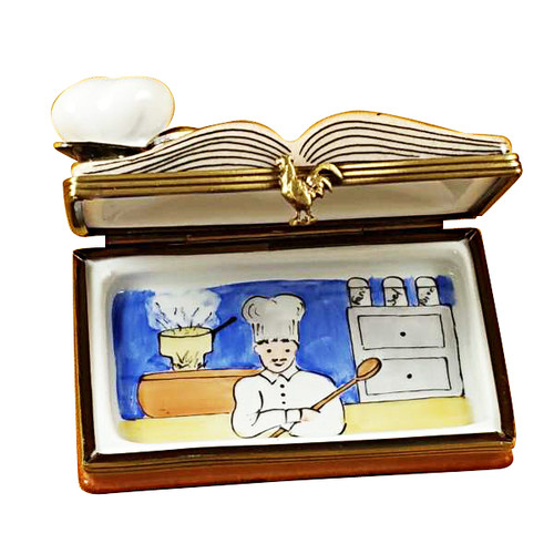 Cookbook W/Chef Hat Rochard Limoges Box