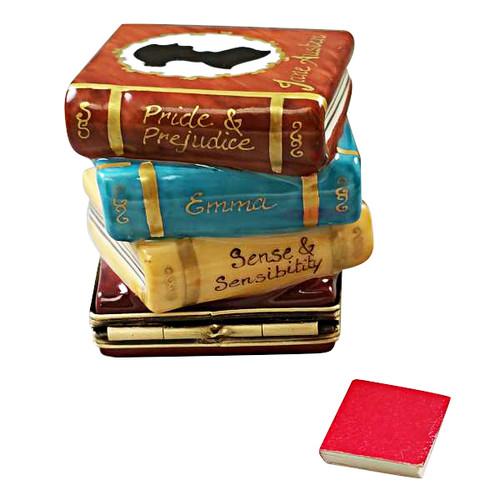 Jane Austen Stack Of Books Limoges Box