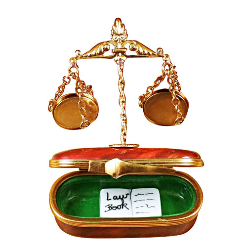 Rochard SCALES OF JUSTICE Limoges Box RP044-J