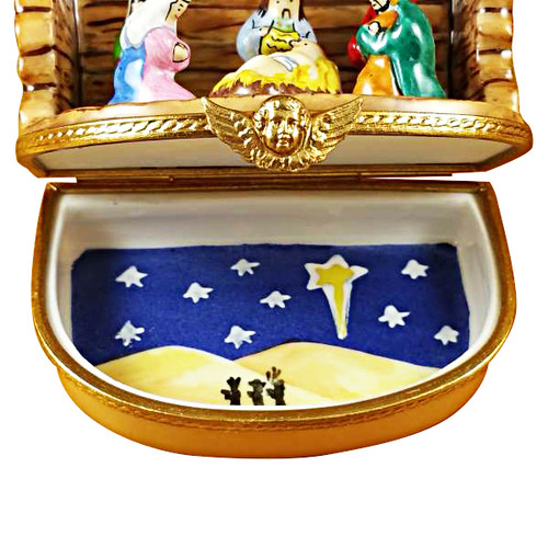 Nativity Stable Rochard Limoges Box