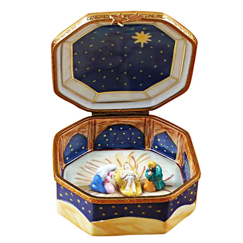 Nativity Octagon Rochard Limoges Box