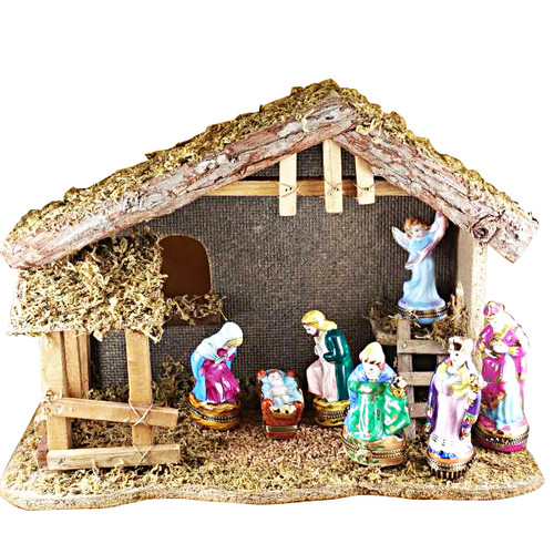 12 Piece Nativity Set Rochard Limoges Box