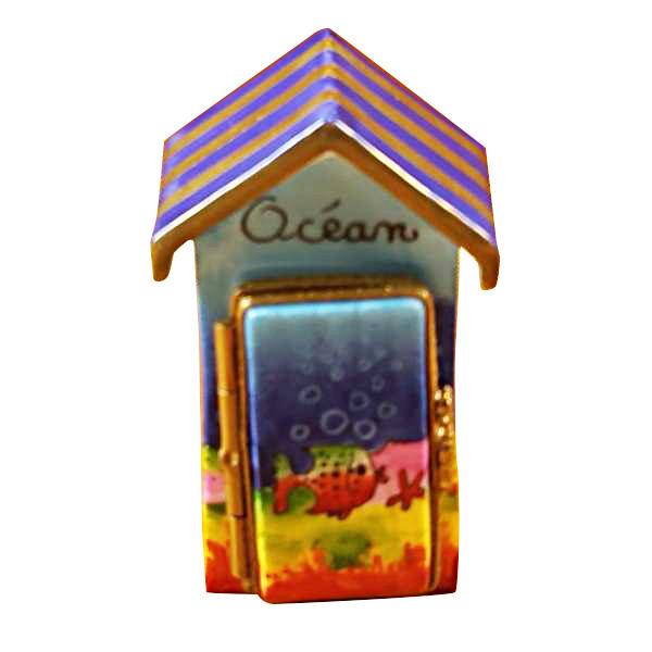 Beach Cabana -Ocean Decor Rochard Limoges Box