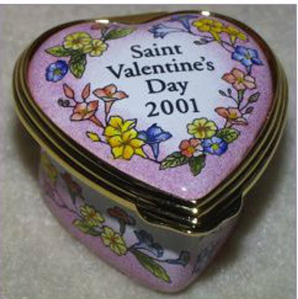 Halcyon Days 2001 Mini St. Valentine's Day Heart