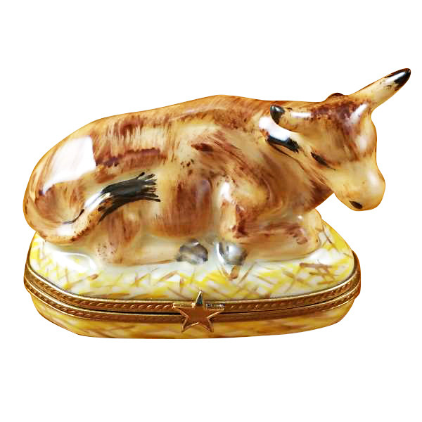 Limoges Imports Cow Limoges Box
