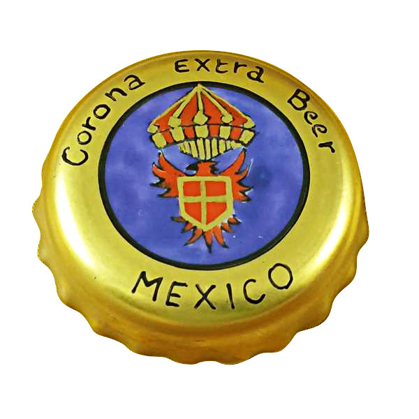 Limoges Imports Mexican Beer Cap Limoges Box