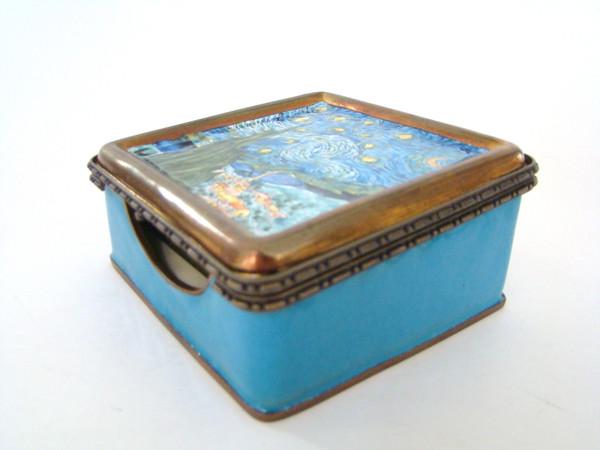 Kelvin Chen Vincent Van Gogh Stary Night Notepad Holder Hinged Box (EY3C3)