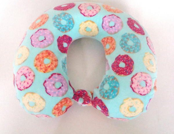 Soft & Plush Memory Foam Donut Print Neck Pillow