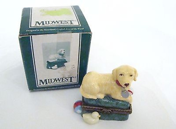 Golden Retreiver Dog Trinket Box PHB