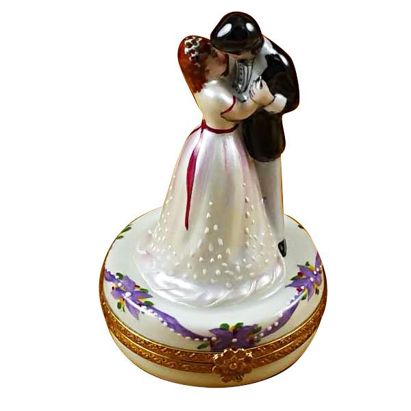 Dancing Bride & Groom Rochard Limoges Box