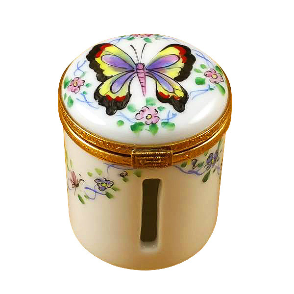 Butterfly Stamp Holder Rochard Limoges Box