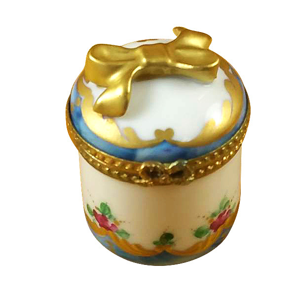 Roses W/Gold Heart Rochard Limoges Box