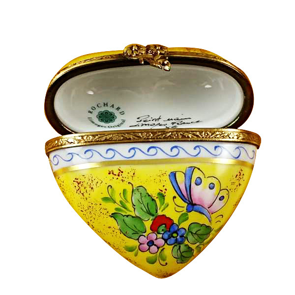 Rochard BUTTERFLY HEART Limoges Box RH225-G