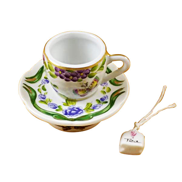 Cup & Saucer-Butterfly Rochard Limoges Box