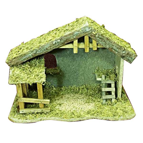Stable - Wood/Moss/Bark Rochard Limoges Box