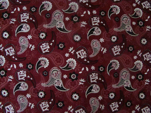 Texas A&M Paisley Print Added to Custom Mask Collection