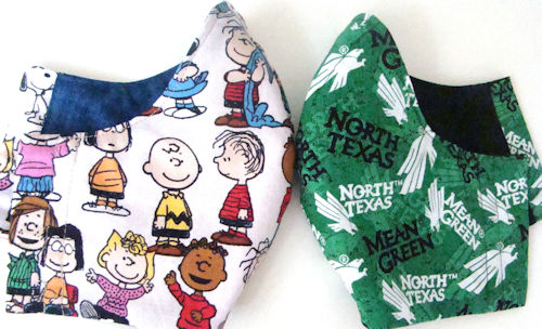 Charlie Brown Peanuts and North Texas Mean Green