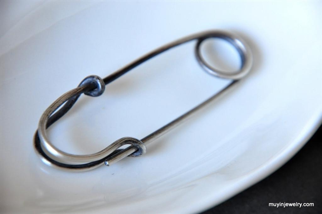 3 inch SAFETY PIN shawl or kilt pin