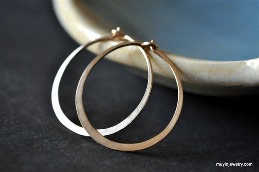 "classic 5/8"" (16mm) artisan forged hoop earrings"