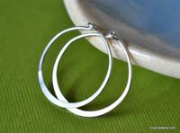 """3/4"""" (20mm) artisan forged hoop earrings"""