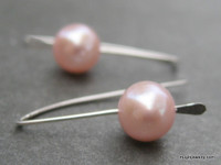 HOOKED freshwater pearl earrings - choose from 22 colors